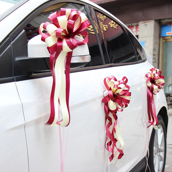 wedding decoration accessories car decoration pull flower wedding arrangements decoration ribbon flower ball artificial flower ball