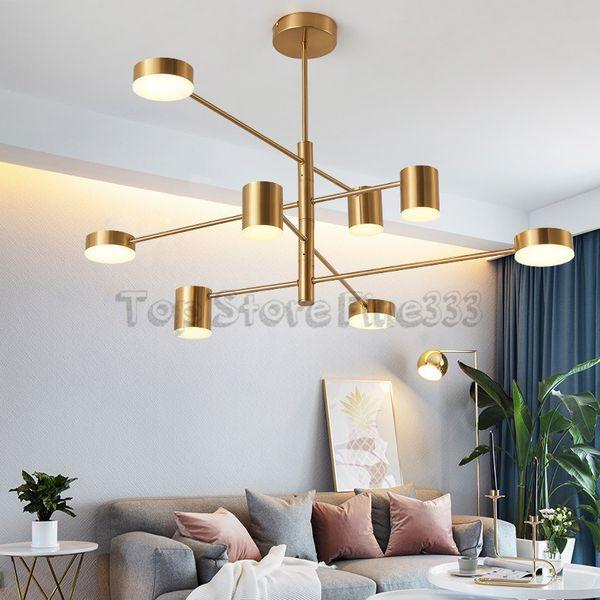 Modern Fashion Designer Black White Gold Led Art Deco Suspended Chandelier Light Lamp for Kitchen Living Room Loft Bedroom