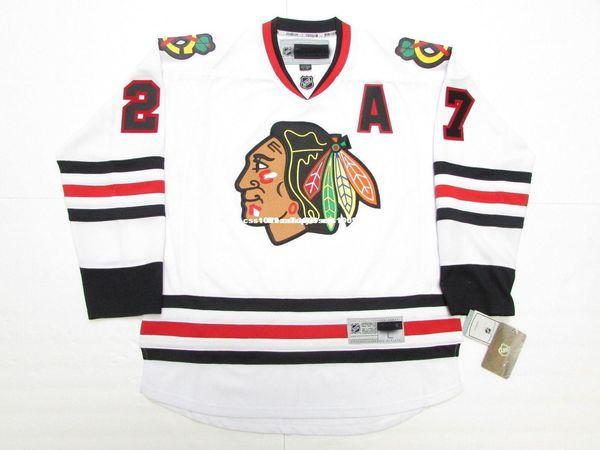 Дешевые пользовательские Джереми ROENICK Чикаго Блэкхокс прочь премьер хоккей Джерси стежок добавить любое число любое имя мужской хоккей Джерси XS-6XL