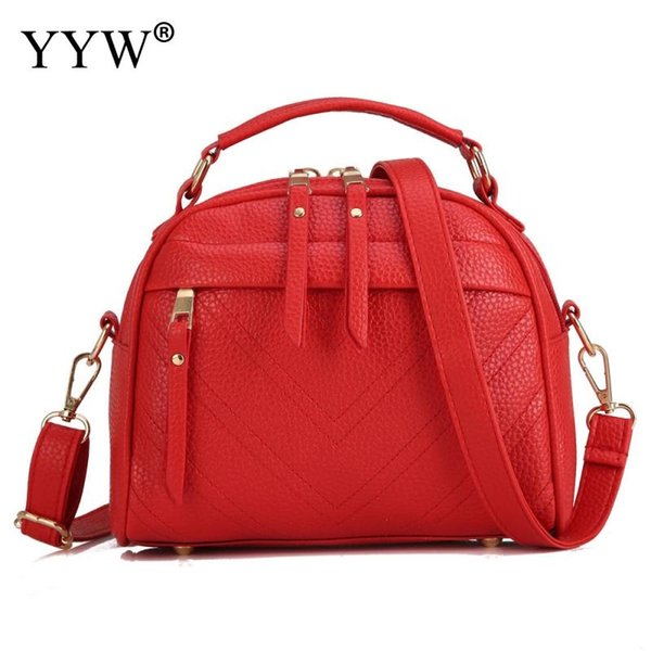 Red Fashion Designer Pu Leather Handbag per le donne 2018 Nuovo Top Handle Hand Bags Bolsa Feminina Balck Large Capacity Shoulder Bag # 33402