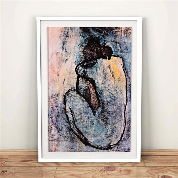 Pablo Picasso Desnudo Azul 1902 HD Lienzos Impresiones Arte de la pared Pintura Cuadro Decorativo Moderno Accesorios de Decoración Del Hogar