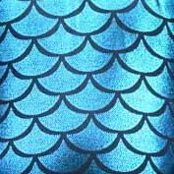 écaille de poisson bleu