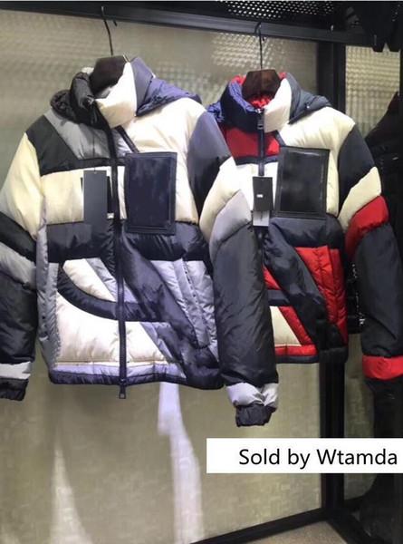Yeni Tasarım Fransa Marka Rahat Aşağı Ceket Aşağı Palto Açık Kürk Yaka Sıcak Tüy Boyama Kış Coat Ceketler