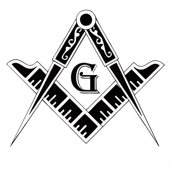 Banner Masonic Badge Vinil Laptop Capacete Do Carro Etiqueta Do Caminhão Decorativo Personalidade Acessórios Decoração