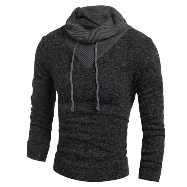 Pullover Men Winter Clothes Soild Color Hedging Turtleneck Mens 2019 Male Casual Slim Sweater for Spring Autumn