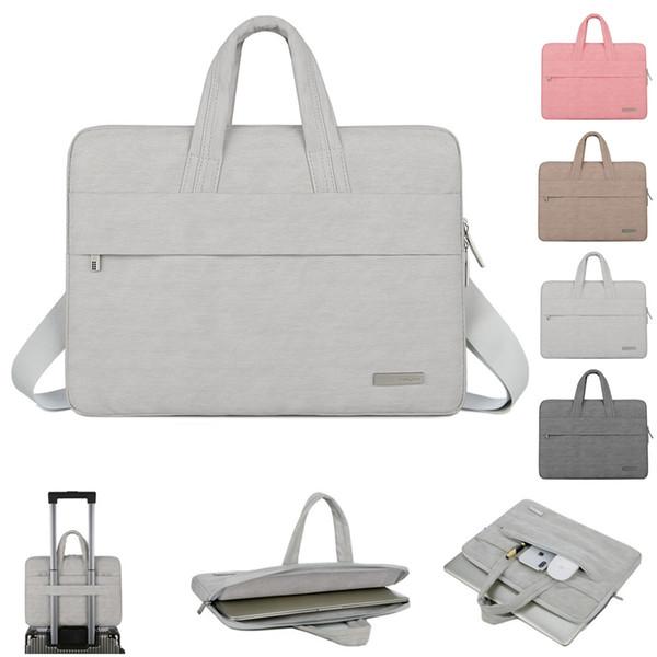 Laptop Bag Sleeve 11 12 13.3 14 15.6 Pouce PU Sacoche étanche pour ordinateur portable Pour Macbook Air Pro 11 13 15 Ordinateur Pour Femmes Hommes