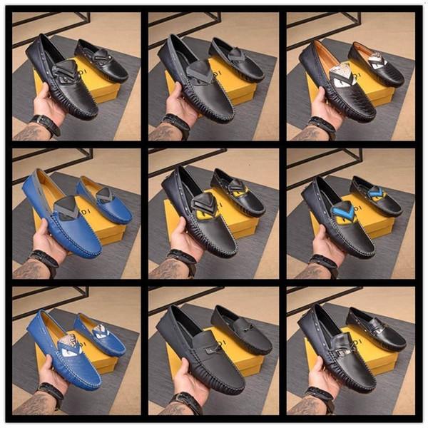 autunno A4 primavera estate 10 FDbrands stile mens nero marrone vera pelle piatte Rubbe unica fibbia Mocassini vestito cinghia