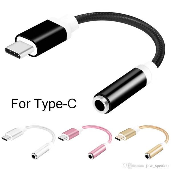 Cavo adattatore per adattatore audio da convertitore da 3,5 mm a 3,5 mm Cavo adattatore da cavo audio da USB a 3,5 mm per Huawei P20 Lite Mate 20