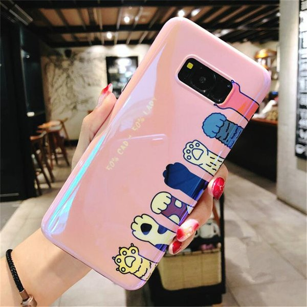 Mytoto DENLAIS Sevimli Kedi Ayı Paw Vaka Samsung S7edge S8 S9 Durumlarda Silikon Karikatür Kapak Samsung S9 S8 Artı Not 8 9 Vaka Coque