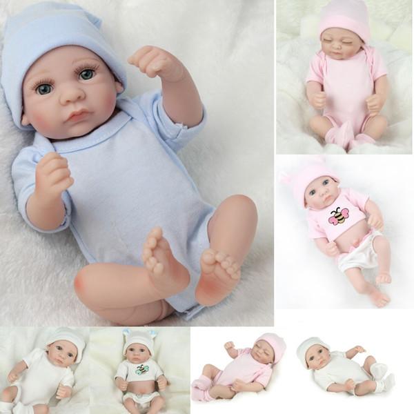 5 Estilos Venta caliente Nuevo Deign Reborn Baby Doll Real Look Newborn Girl's Great Present Soft Silicone Vinyl Doll