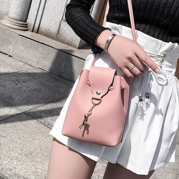 Cheap Deer Pendant Messenger Bags High Quality Cross Body Bags Mini Bags Phone Coin Purse Female Shoulder Bag Handbags #1112 NEW