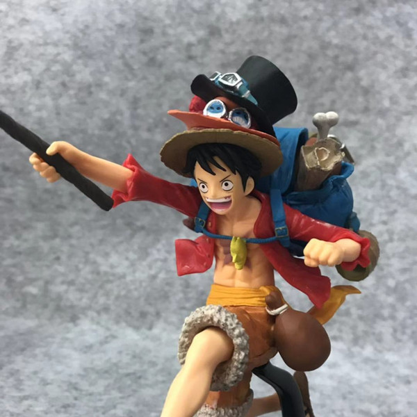 2019 New Hot 20cm One Piece Monkey D Luffy Backpack Ace Sabo Hat Action Figure Toys Doll Collection Christmas Gift With Box From Sunnysleepvip1