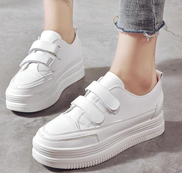 Mulheres Sapatos Casuais 2019 Moda Vulcanizar Sapatos Novas Mulheres branco Moda Sapatos Zapatillas Deportivas Mujer tamanho 35-39