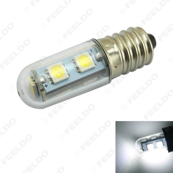 vente en gros Mini blanc E14 5050SMD 7LED 60-80LM Accueil lumière LED ampoule ampoule de réfrigérateur lampes AC 200-240V # 1957