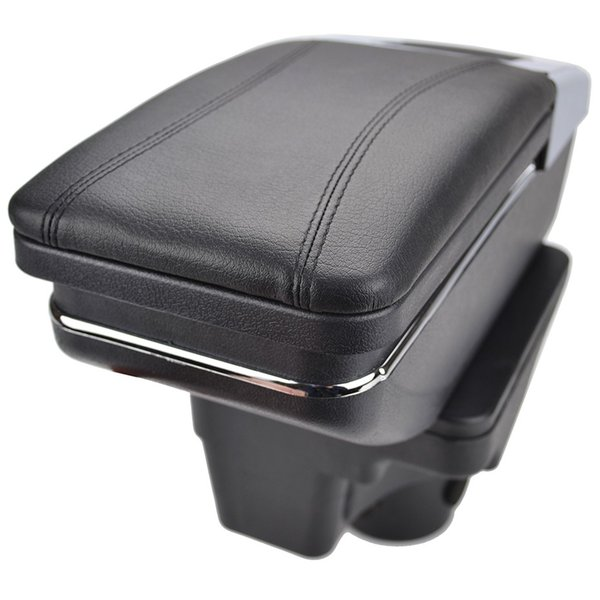Arm Rest For Kia Rio 4 2017 2018 2019 X-Line Center Centre Console Storage Box Armrest Rotatable Leather Car Styling