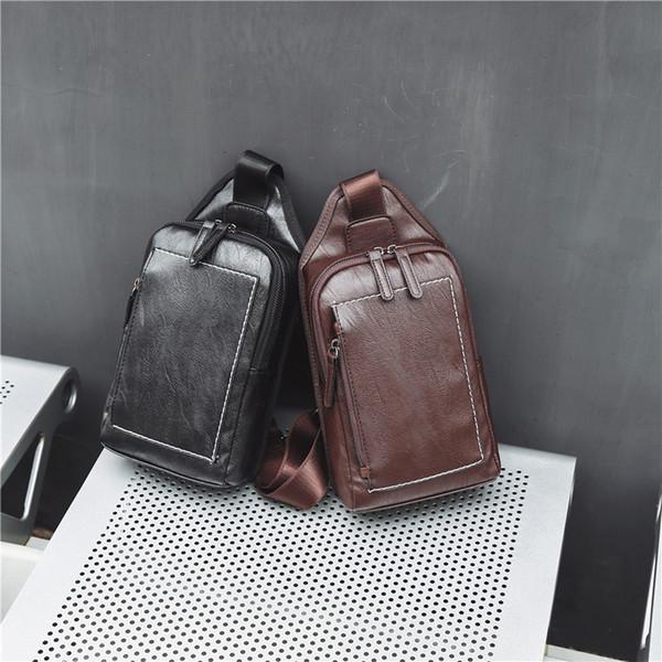 Freizeit Straße Brusttasche Retro-Trend Tasche zurück neue koreanische Version Brusttasche Männer und Frauen Mode kleinen Rucksack
