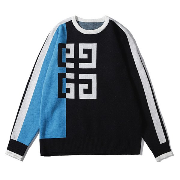 Top Luxury Designer Mens Brand Sweater Sweatshirts Fahsion Patchwork Pullover Classic Logo Street Long Sleeves Hooded Autunm Stripe B101002L