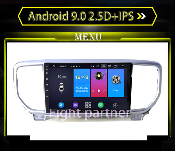 2.5D + IPS Android 9.0 Автомобильный DVD Радио Мультимедиа Плеер GPS-навигатор Для KIA Sportage 3 4 2018 2019 KX5 GPS-навигатор Stereo
