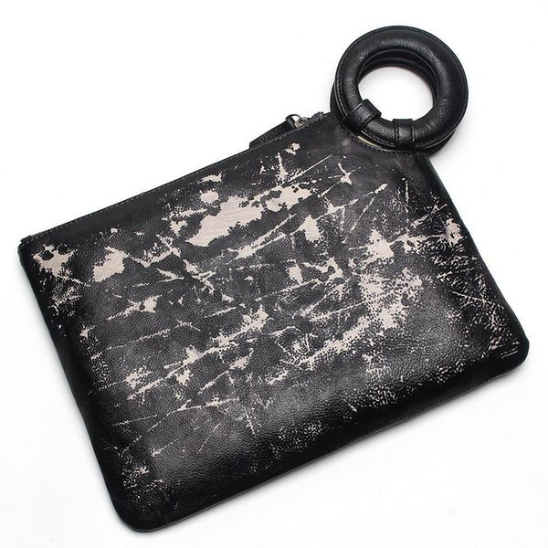 Fashion Men Clutch Genuine Leather Women Handbag Casual Hasp Envelope Bag Business Male Messenger Bags Men Travel Bags