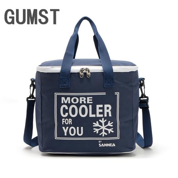 20L High quality rectanglar cooler bag cool insulated shoulder bag picnic lunch box ice pack thermal shoulder for fruit