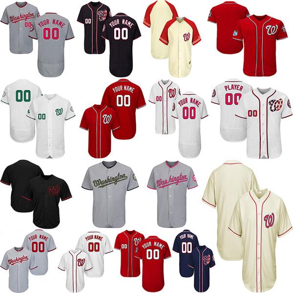 premium selection b2956 e8d35 2019 Customized Washington Nationals Baseball Jerseys Mens Women Toddlers  Jersey Any Name Number Max Scherzer Bryce Harper Ryan Zimmerman Jersey From  ...