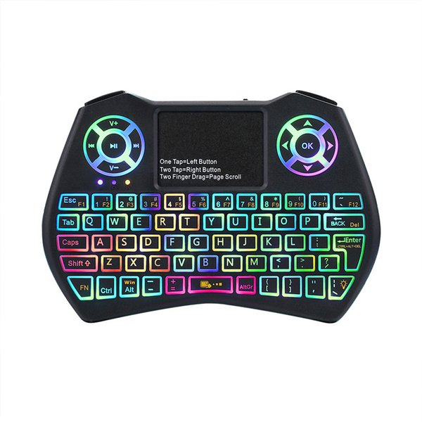 Mini Keyboard I9 Plus Colorful Backlight Air Mouse With Touchpad Remote Control Work For Android TV BOX/TV/Mini PC/Projector/X96