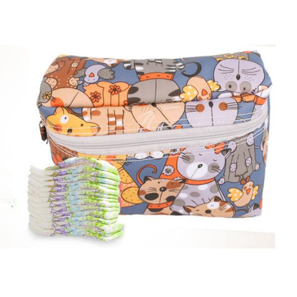 New Cartoon Baby Diaper Caddy Organizer Wet/dry Bag Storage B ag Stroller Accessories Travel Nappy Bag Multifunctional Mummy