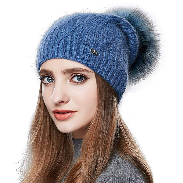 67188832d Winter Hats For Women Pom Pom Slouchy Beanie Hat Real Fur Knit Hats Ski Cap  Headwear Beanies For Men From Pmm17855860618, $10.56| DHgate.Com