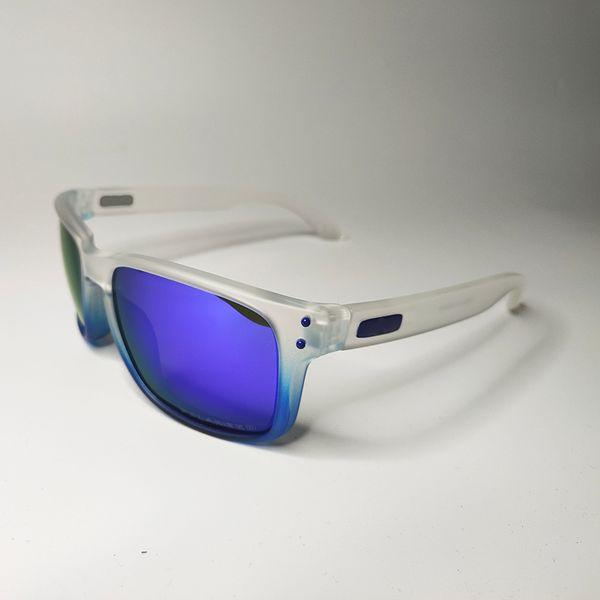 Matte white blue frame blue lens