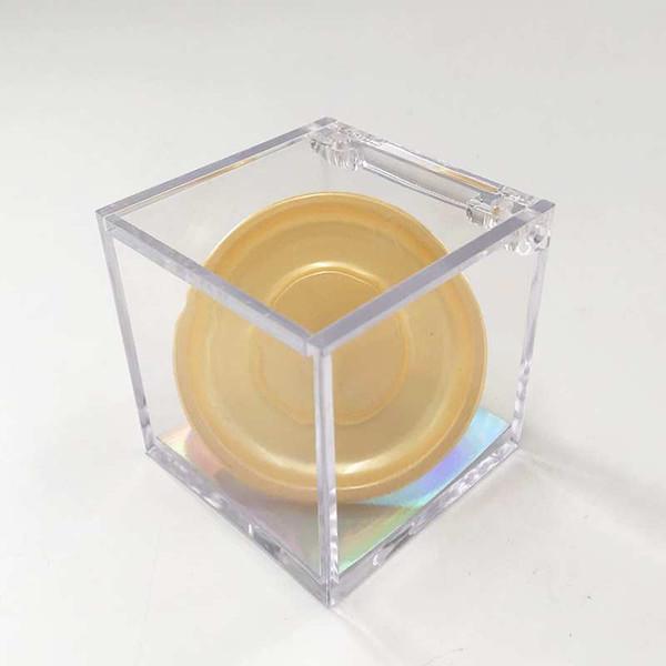 gold cube box