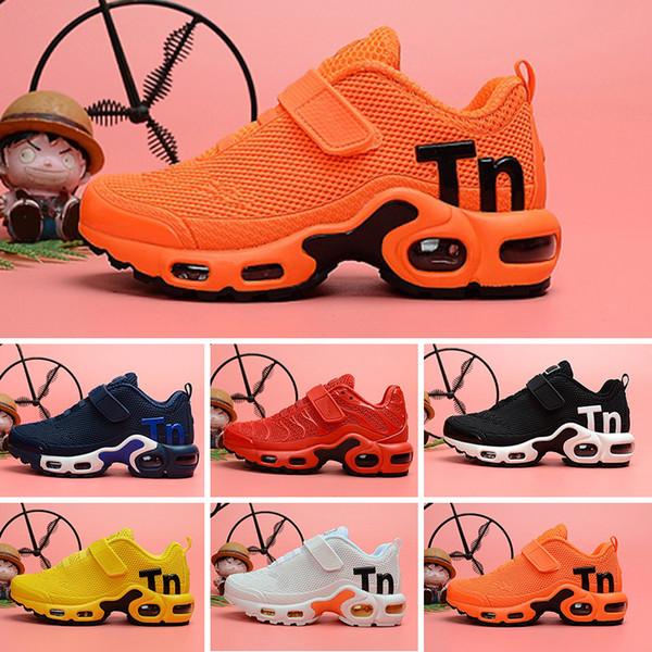 a71b43ad83 2019 designer shoes kids Mercurial TN Breathable tn Plus Rainbow Mesh  Running Sneakers tns children pour