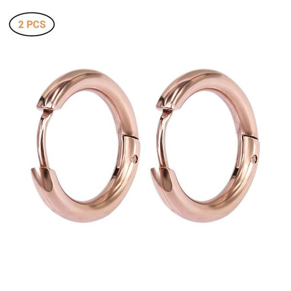 12mm Moda Titanium Aço Rodada Brincos Unisex Personalidade Geometria Tendência Piercing Anel Nariz Ear Jewelry Presente Perfeito