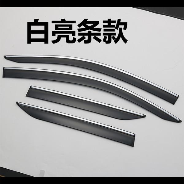 4PCS Car Styling porta janela de vento Visor Molding Toldos Escudo Chuva Sun vento Guarda respiradouro sombra para TOYOTA C-HR 2017