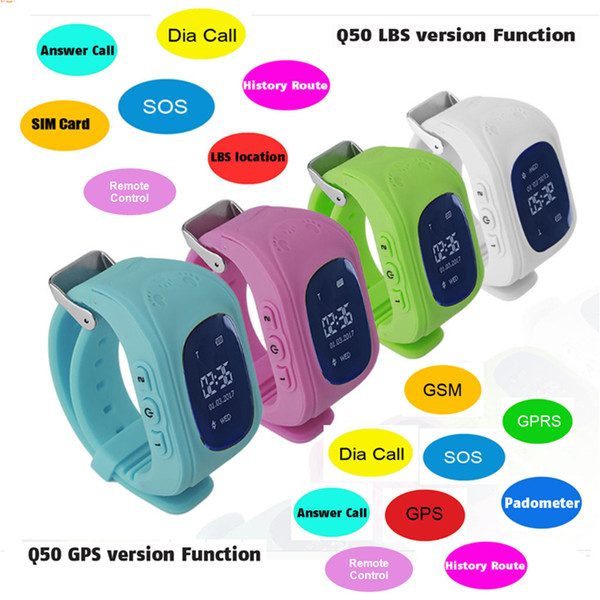 Kids Smart Phone Watch Q50 OLED Screen GPS SOS Call Location Tracker for Childs Anti Lost Monitor Baby Wrist watch