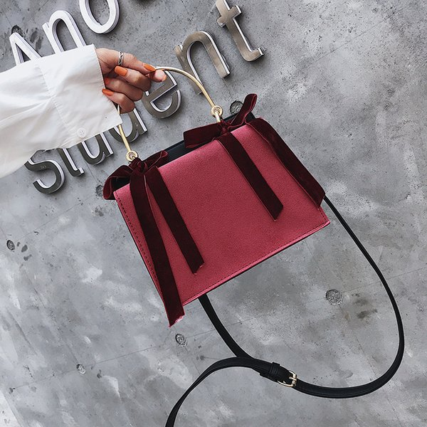 1Handbag Woman 2019 Season I Small Square Package Matting Single Span Bag Borse da donna