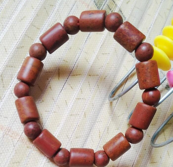 Supply high quality ochre bracelet Shandong rich red men and women sapphire bracelet Xuanhuang ochre bracelet