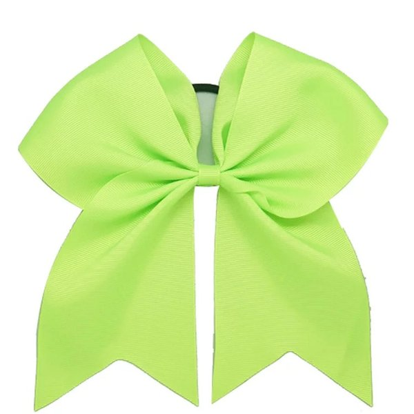 Hair Bow 7inch Large Cheer Bow Hot sale Baby Girl Solid Ribbon Cheer Bows With Alligator Clip Handmade Girls Cheerleading Bows