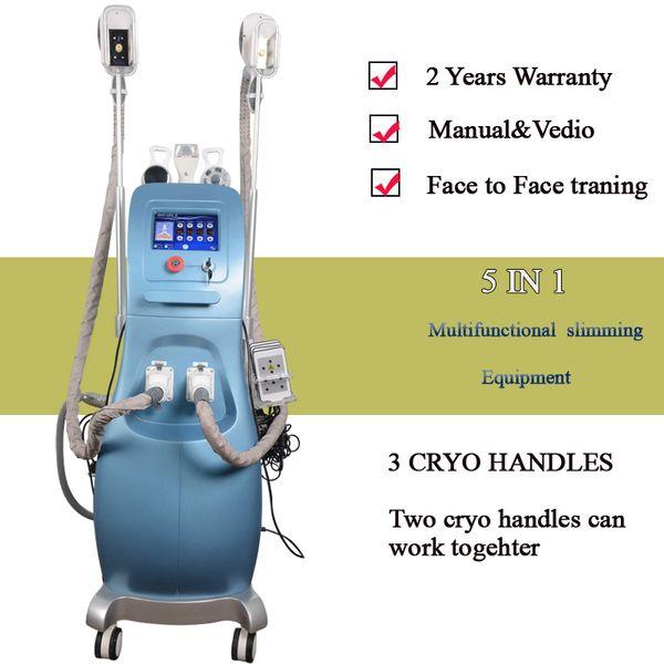 Vide minceur ultrasons cavitation rf minceur beauté équipement vide cavitation rf 2 poignées cryo travaillent ensemble