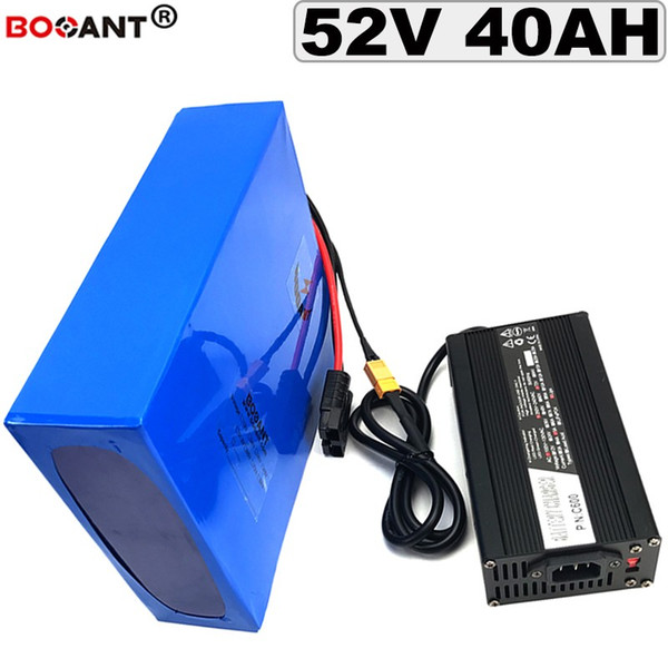 powerful 3000w 52v 40ah electric bike battery 51.8v 35ah 50ah scooter lithium battery for e-bike 1500w motor kits +5a charger