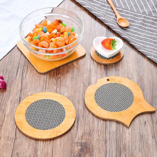 Bambus Hitzebeständige Tischset Hot Pot Holder Teekanne Pad Coaster Tisch Tischset Kaffee Tee Becherhalter