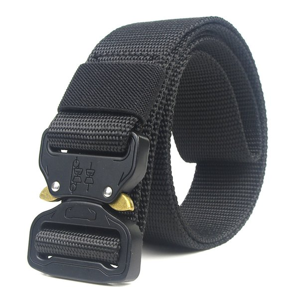Unisex Nylon belt Metal insert buckle nylon Training belt Army tactical belts for Men Best quality male strap