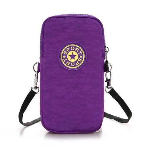 Sports Running Bag Jogging Gym Arm Band Holder Bags Mobile Phone Key Pack