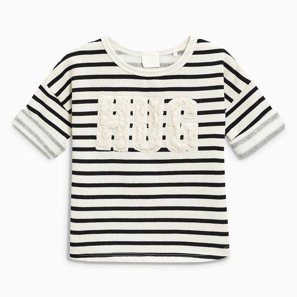Autumn New Kids Dresses Long Sleeve Girls T-shirt Cartoon Round Neck and Striped T-shirt Children Underwear