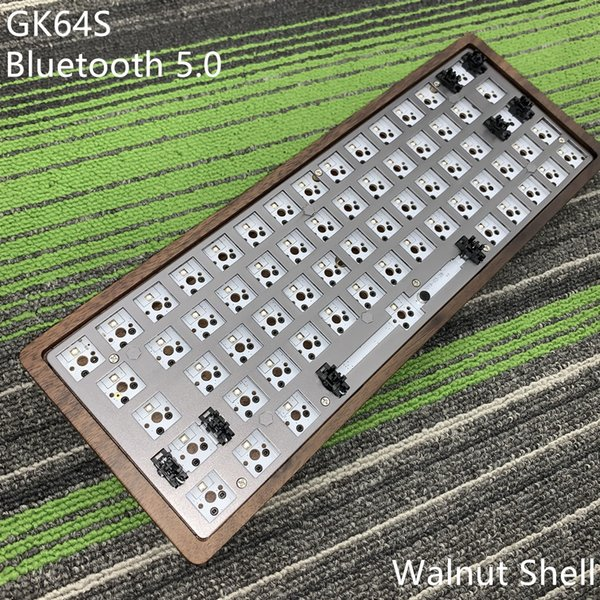 GK64 S Kit de teclado GK64 GK64S caja de madera CNC placa PCB con Kabel Bluetooth 2 vendidos