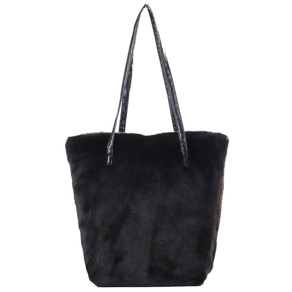 FGGS-fausse fourrure fourrure Sling épaule sac à main sac en peluche mode sacs à main Top-Handle sacs causale Tote Ladies sac à main femmes