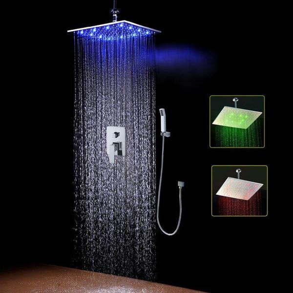 Для домашнего использования 16 дюймовый светодиодный набор для душа настенный смеситель для душа для воды набор 161222 # 161225