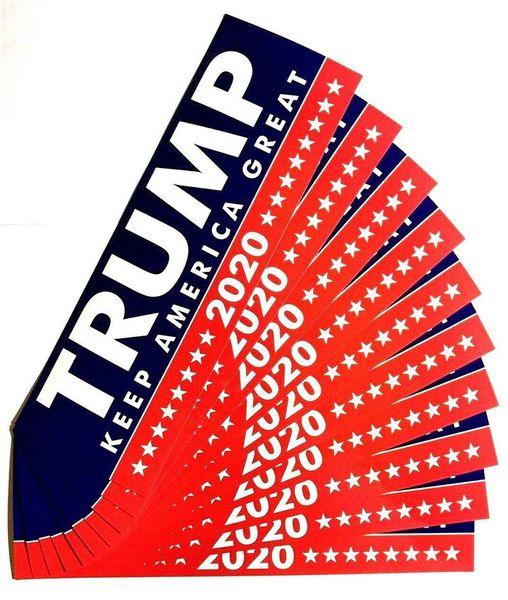 HOT Donald Trump 2020 Etiquetas engomadas del coche 7.6 * 22.9cm Etiqueta de parachoques Keep Make America Great Decal para Car Styling Vehicle Paster 3 nuevos estilos