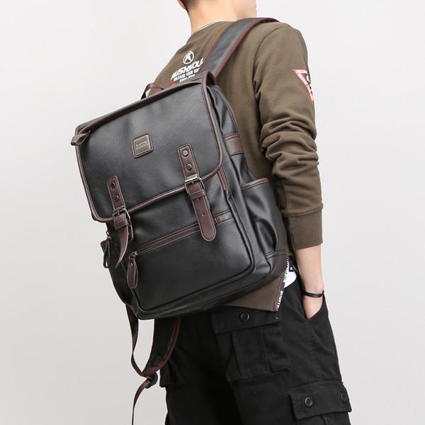 Hohe Qualität Rucksäcke Pu-leder Schulter Schultaschen Für Jugendliche Mädchen laptop-tasche Wasserdichte Reiserucksack 39 * 30 * 13 cm