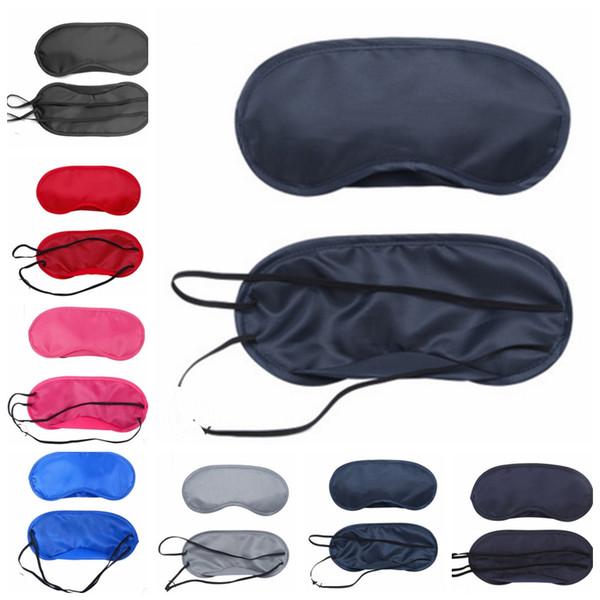 Schlafaugenmaske Feste farben Augenabdeckungen Sunblock Eyeshade Reise Augenklappe Relax Aid Augenbinden Spielzubehör 23 Farben YW2958