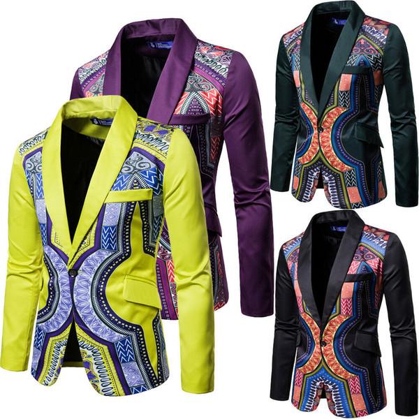 Nueva Llegada de Lujo de Los Hombres Blazer Primavera Marca de Moda de Alta Calidad Casual Slim Fit Men One Button Suit Terno masculino Blazers Masculino